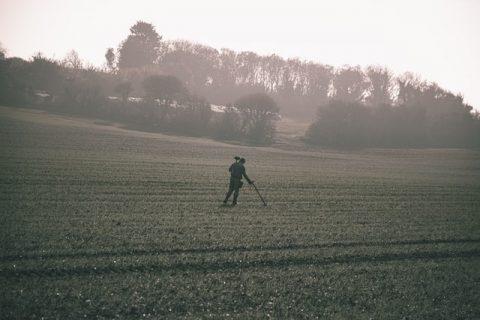 chasse au trésor dans les champs